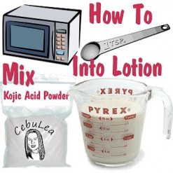 How to Mix Kojic Acid Powder into Lotions